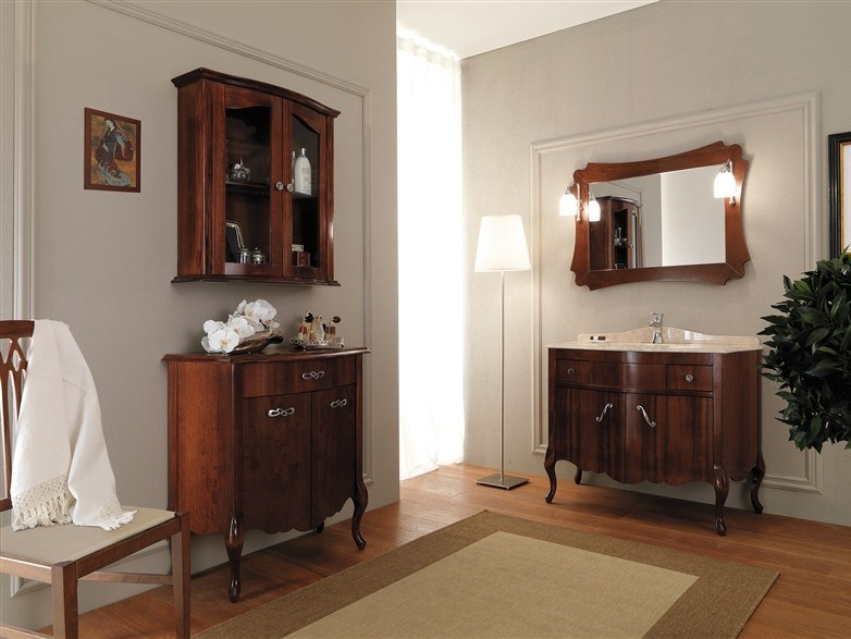 Wooden vanity unit NARCISO 5 by LEGNOBAGNO