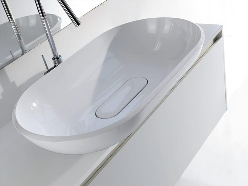 Countertop oval washbasin BOOSTER - LASA IDEA