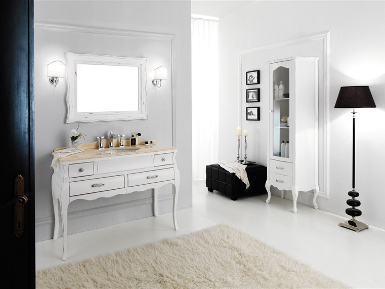 Wooden vanity unit VOGUE 3 - LEGNOBAGNO