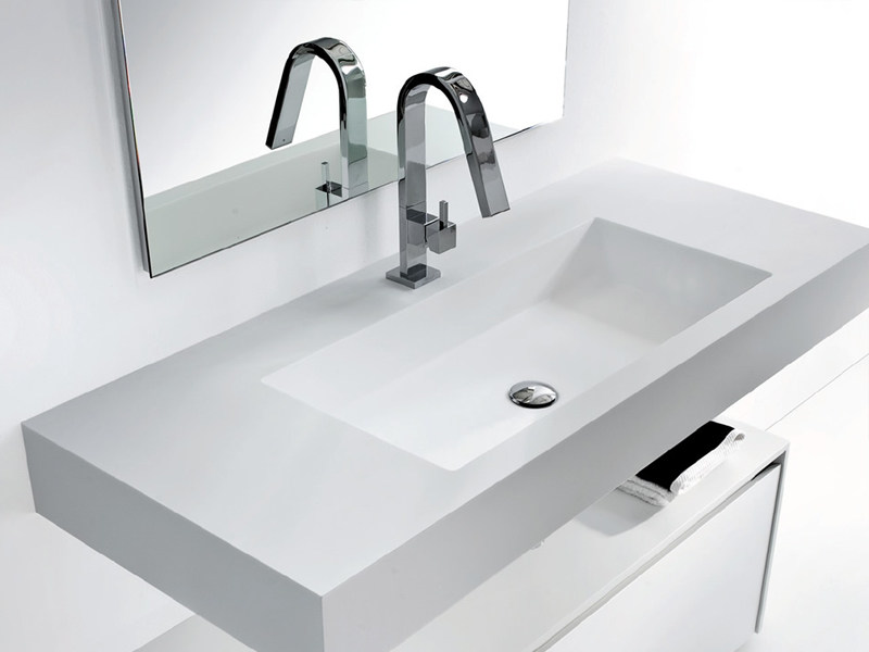 Rectangular Tecnoril® washbasin METROPOLIS | Washbasin - LASA IDEA