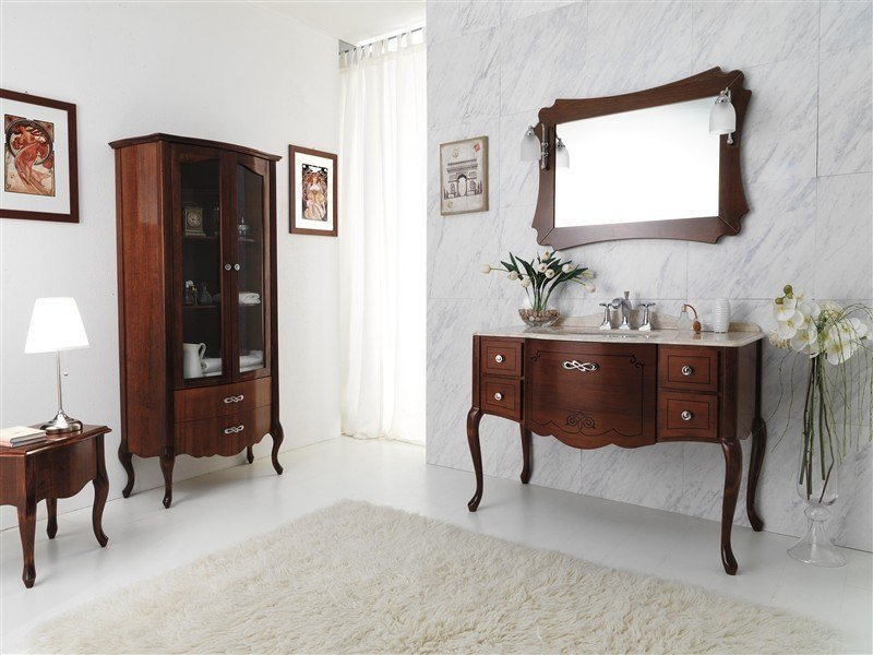 Wooden vanity unit NOVECENTO 1 by LEGNOBAGNO