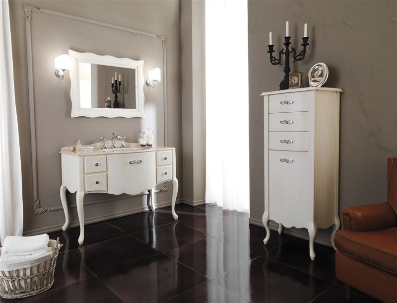 Lacquered vanity unit with drawers NOVECENTO 3 by LEGNOBAGNO