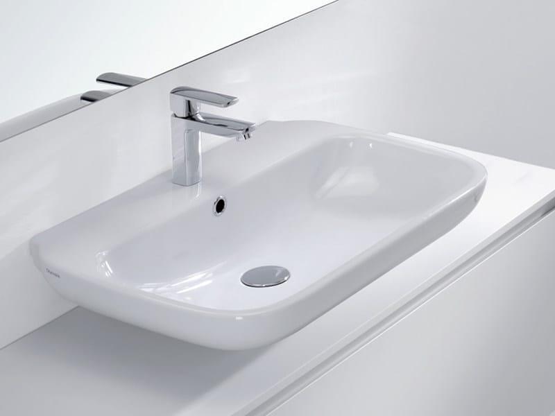 Countertop ceramic washbasin BESS | Ceramic washbasin - LASA IDEA