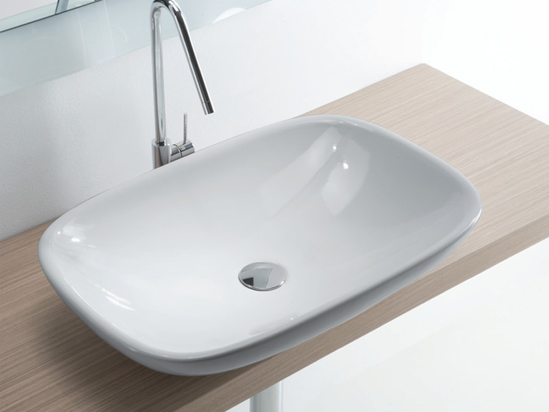 Countertop ceramic washbasin CLEAR 02 - LASA IDEA