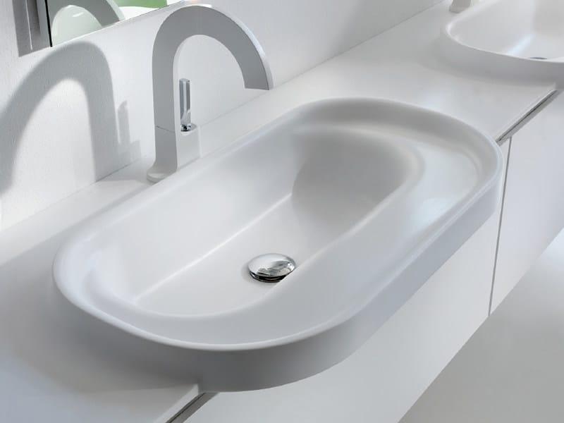 Piano lavabo doppio in Tecnoril® METROPOLIS  Piano lavabo - LASA IDEA