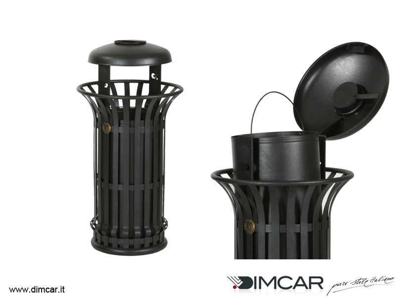Waste bin with ashtray Cestone Mida con coperchio e posacenere - DIMCAR