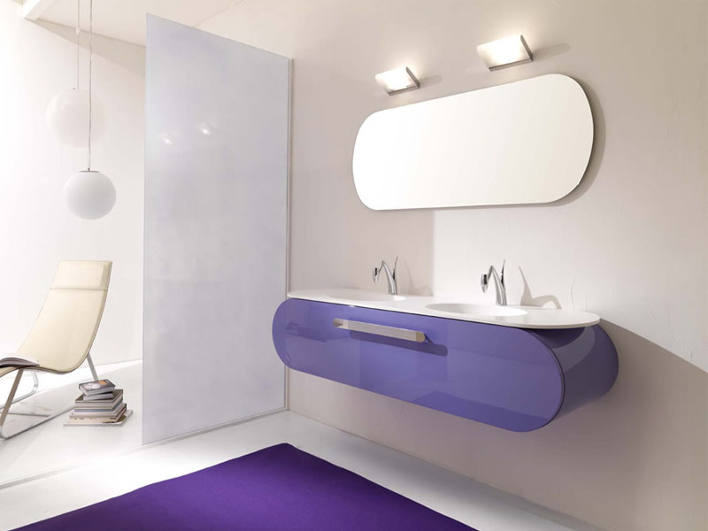 Double wall-mounted vanity unit FLUX_US 2 - LASA IDEA