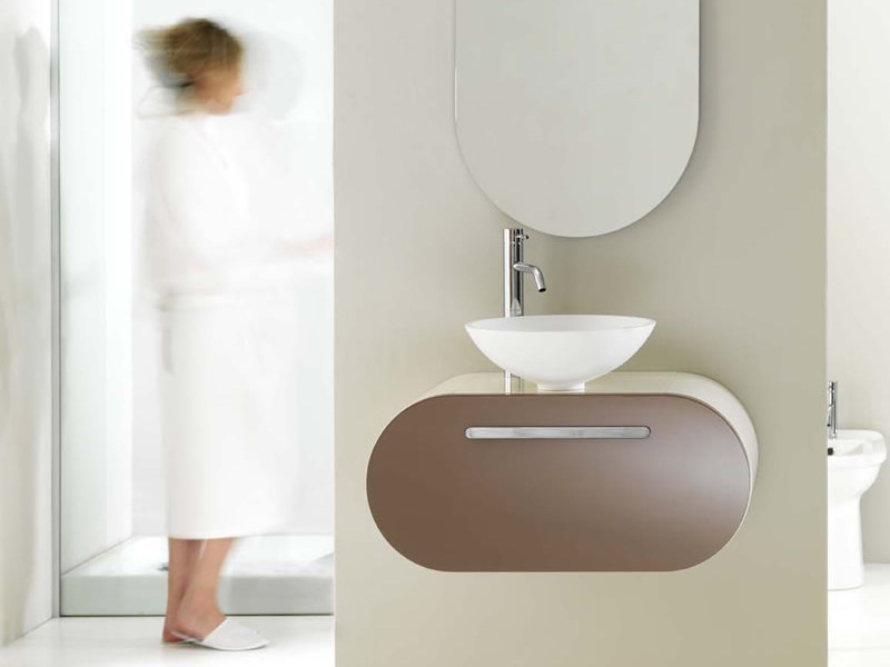 Wall-mounted vanity unit with drawers FLUX_US 3 - LASA IDEA