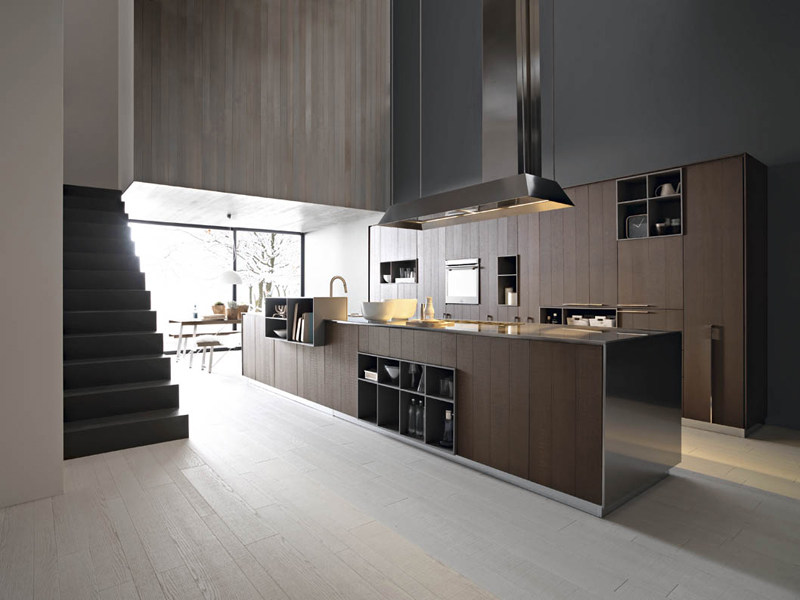 Fitted kitchen with island KALEA - COMPOSITION 1 by Cesar Arredamenti