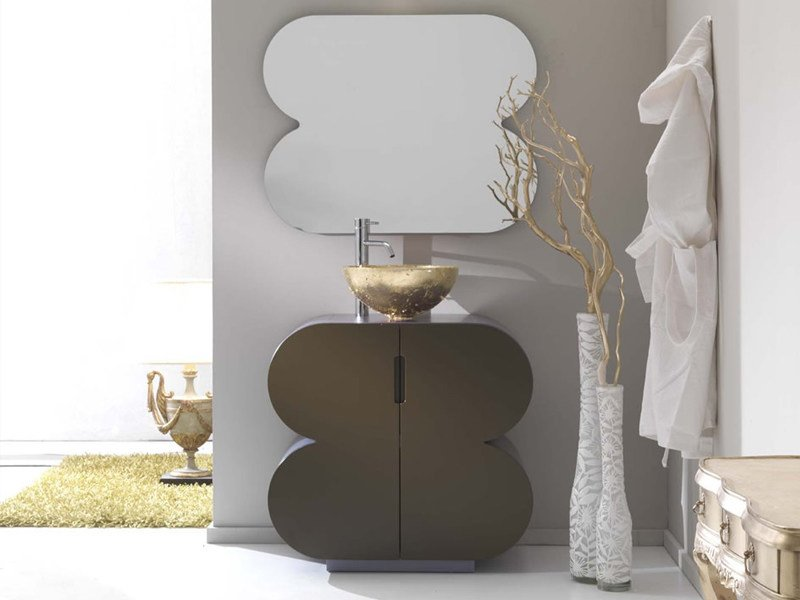 Design floor-standing lacquered vanity unit FLUX_US 13 - LASA IDEA