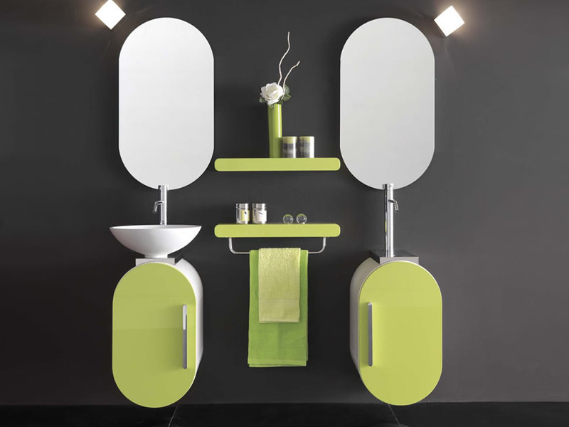 Single wall-mounted vanity unit FLUX_US 14 - LASA IDEA
