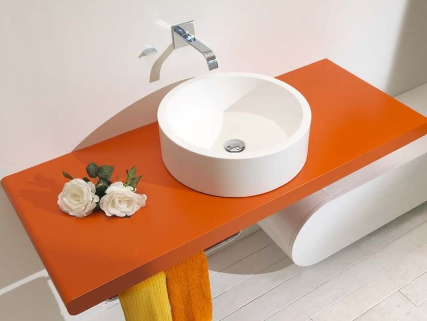 Countertop washbasin with towel rail GLAB - LASA IDEA