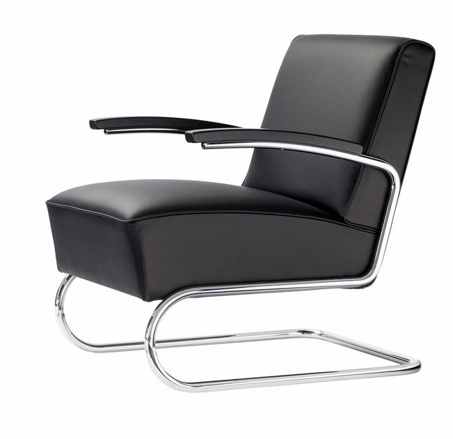 Cantilever upholstered armchair S411 | Cantilever armchair - THONET