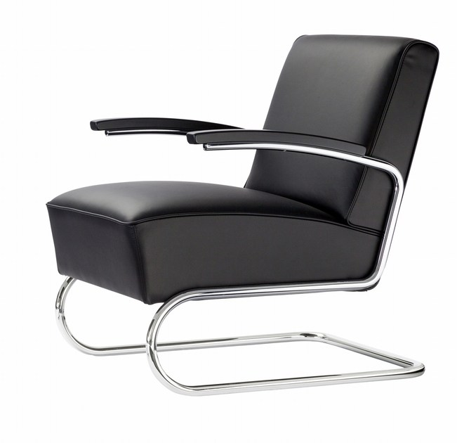 Cantilever upholstered armchair S411 | Cantilever armchair by THONET