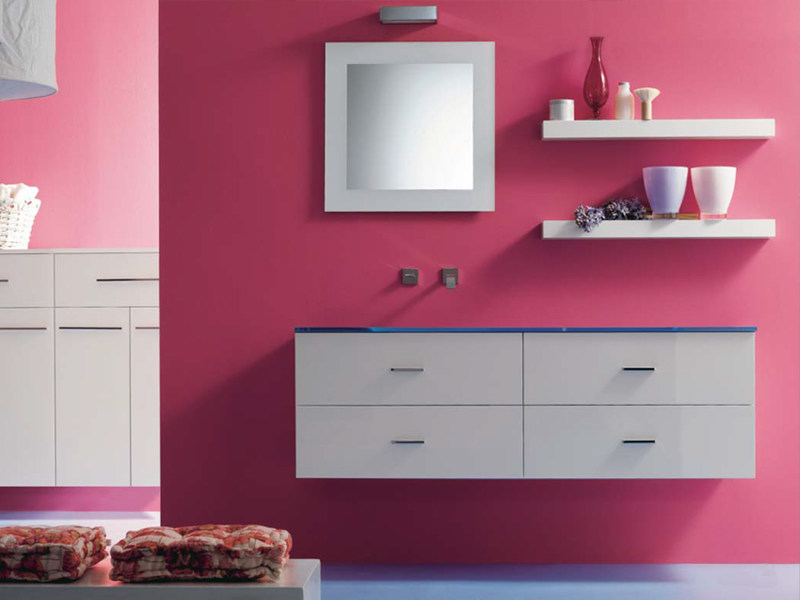 Wall-mounted vanity unit THAIS 15 - LASA IDEA