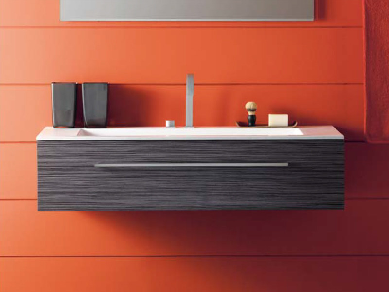 Wall-mounted vanity unit THAIS 13 - LASA IDEA