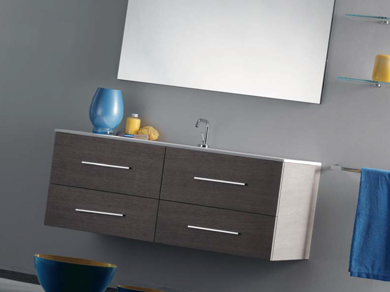 Single wall-mounted vanity unit with drawers THAIS 1 - LASA IDEA