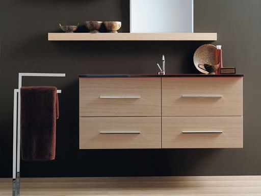 Wall-mounted vanity unit with drawers THAIS 11 | Vanity unit - LASA IDEA