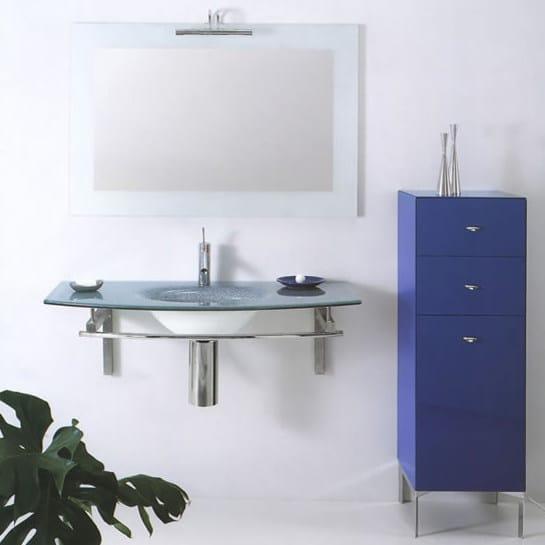 Crystal washbasin with integrated countertop TIFFANY 300 - LASA IDEA