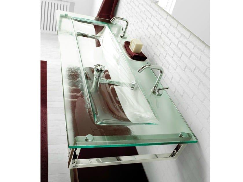 Double rectangular wall-mounted crystal washbasin TIFFANY 730 - LASA IDEA