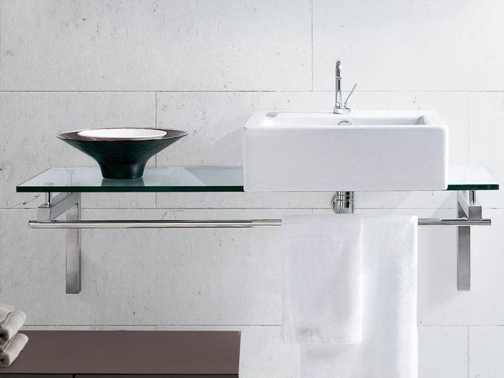 Single crystal washbasin countertop TIFFANY 810 - LASA IDEA