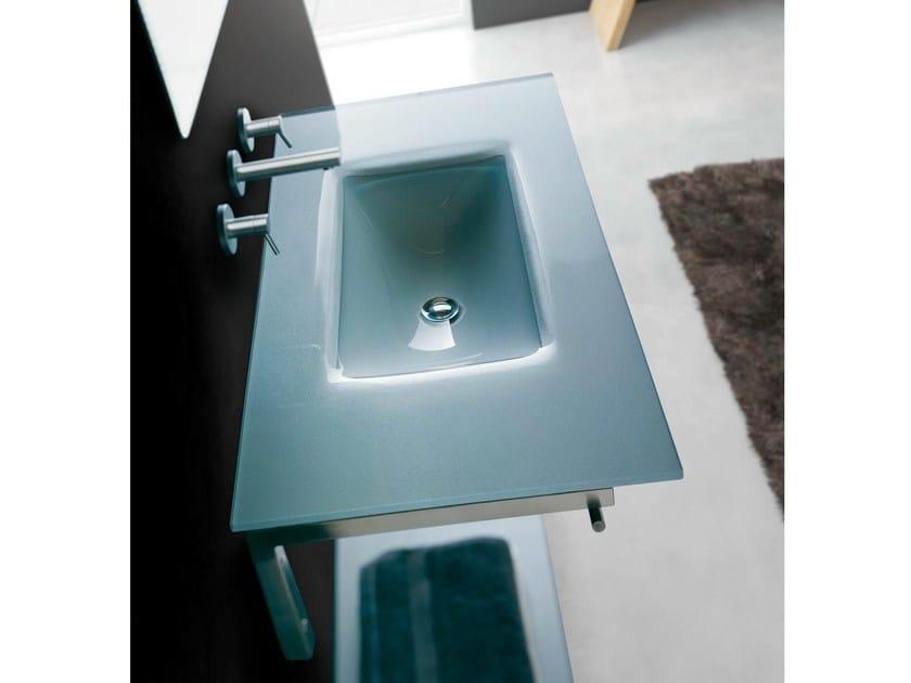 Single wall-mounted crystal washbasin TIFFANY BCT12 - LASA IDEA