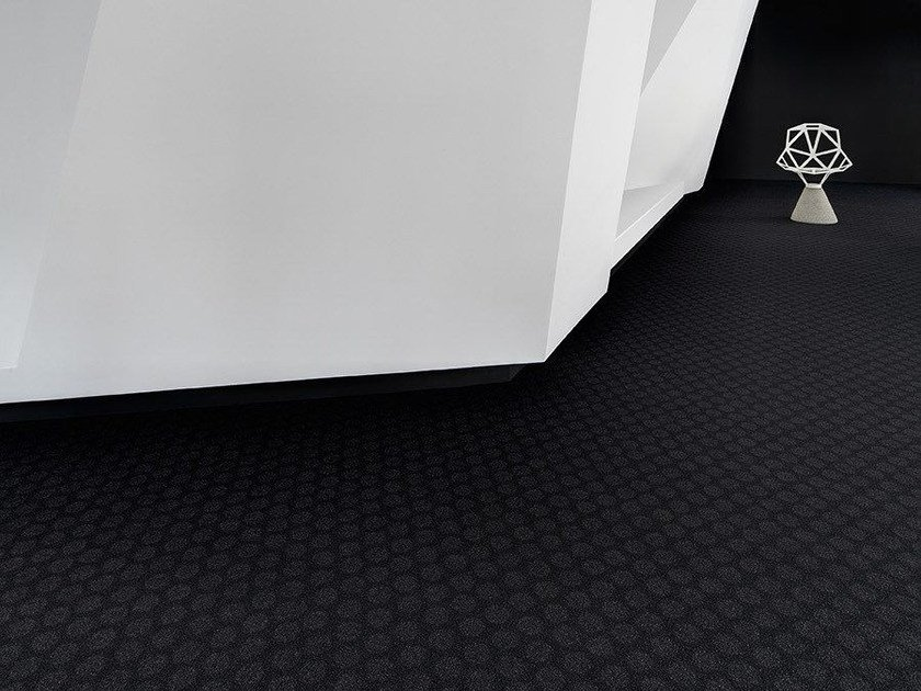 Solid-color polyamide carpeting RONDO 1100 by OBJECT CARPET GmbH