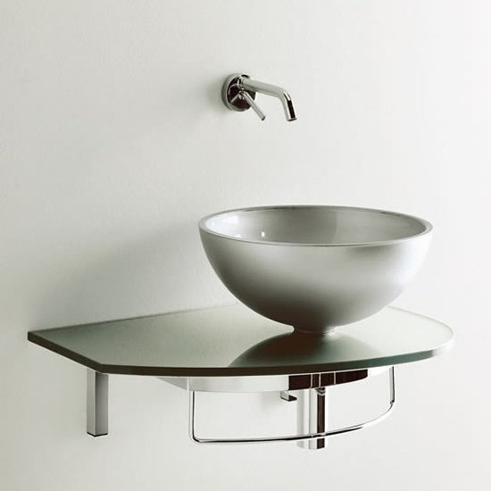Wall-mounted washbasin with towel rail UNIK 4 - LASA IDEA