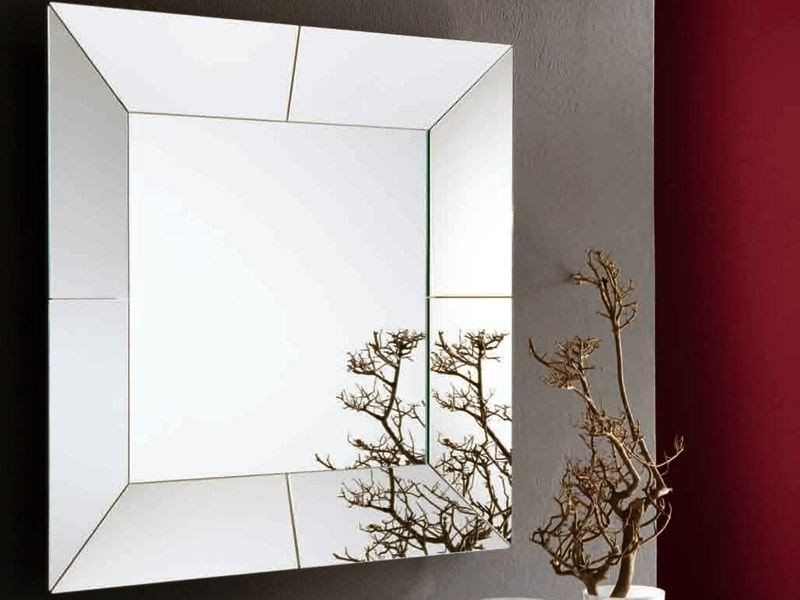 Framed mirror CUBE by RIFLESSI
