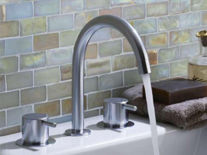 3 hole washbasin tap with adjustable spout KV10 | Washbasin tap - VOLA
