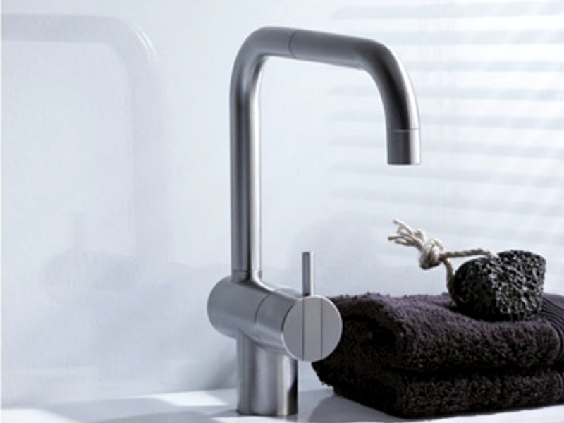 Countertop 1 hole kitchen mixer tap with swivel spout KV1 | Kitchen mixer tap - VOLA