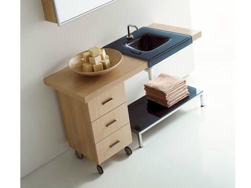 Sectional oak vanity unit MARIPOSA 17 - LASA IDEA