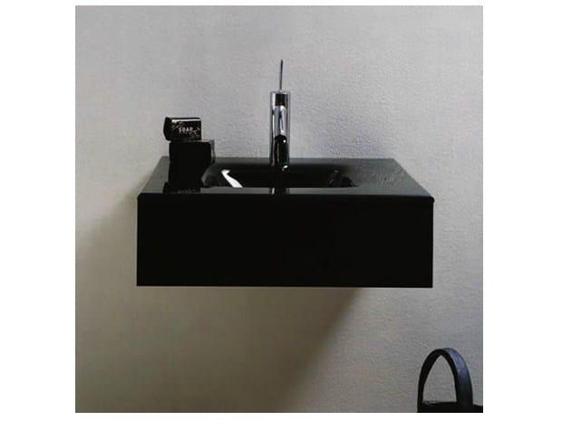 Square single wall-mounted washbasin MARIPOSA MA01 - LASA IDEA
