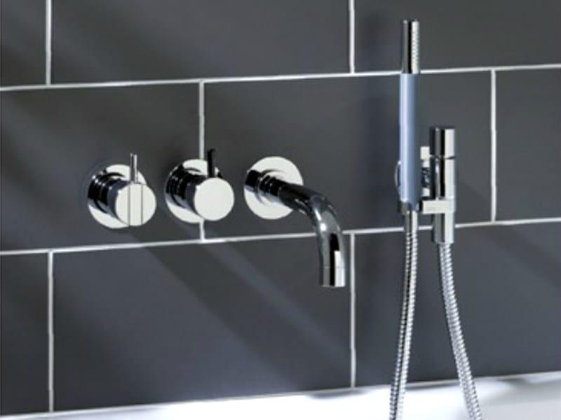 4 hole wall-mounted bathtub set with hand shower 2411C-071 | Bathtub set - VOLA