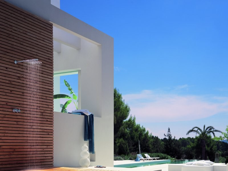Thermostatic shower mixer with overhead shower 5251 | Thermostatic shower mixer - VOLA