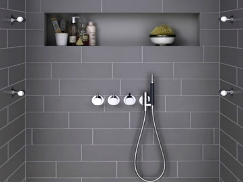 4 hole shower tap with hand shower COMBI-24 | Shower tap with hand shower - VOLA