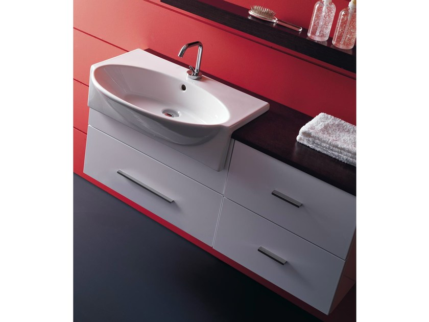 Lacquered wall-mounted vanity unit COMPOS 162 - LASA IDEA
