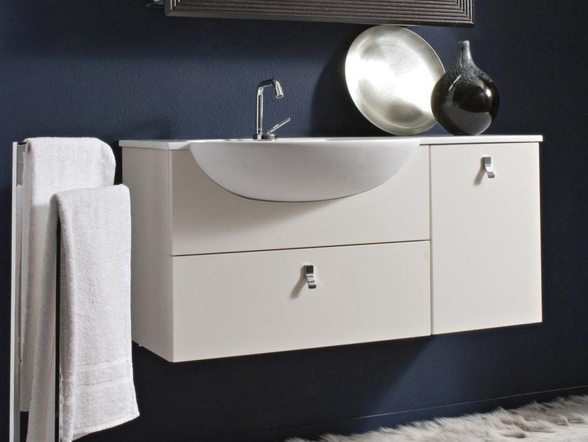 Wall-mounted vanity unit COMPOS 184 by LASA IDEA
