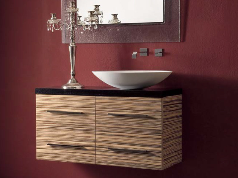 Wall-mounted console sink COMPOS 191 by LASA IDEA