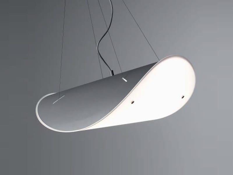 Steel pendant lamp CLAM - ZERO