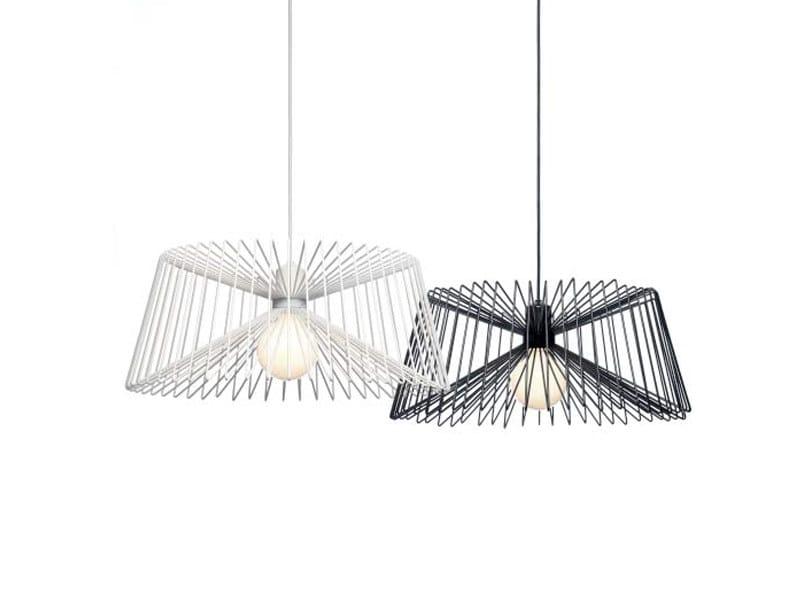 Steel pendant lamp THREE by ZERO
