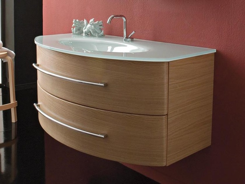 Single wall-mounted vanity unit with drawers COMPOS 198 - LASA IDEA