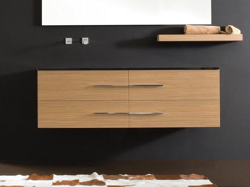 Wall-mounted vanity unit with drawers COMPOS 195 | Vanity unit - LASA IDEA