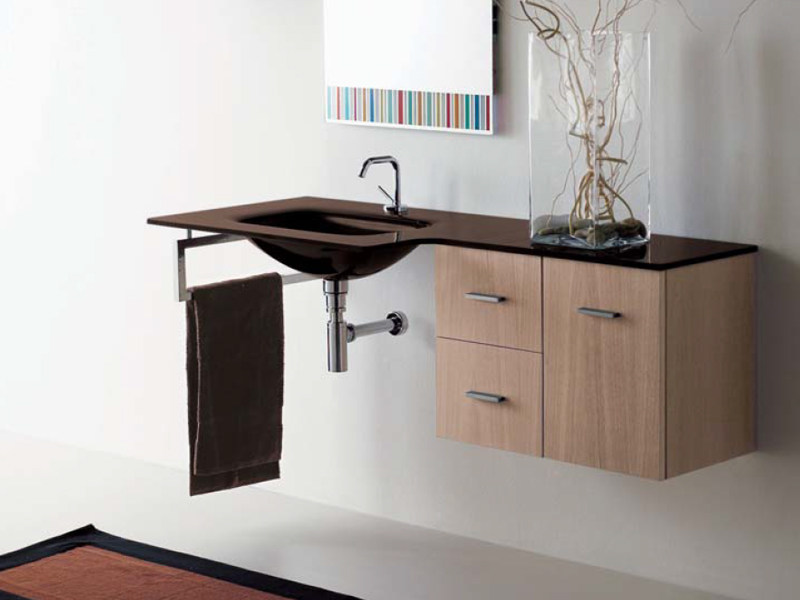 Wall-mounted vanity unit COMPOS 140 | Vanity unit - LASA IDEA