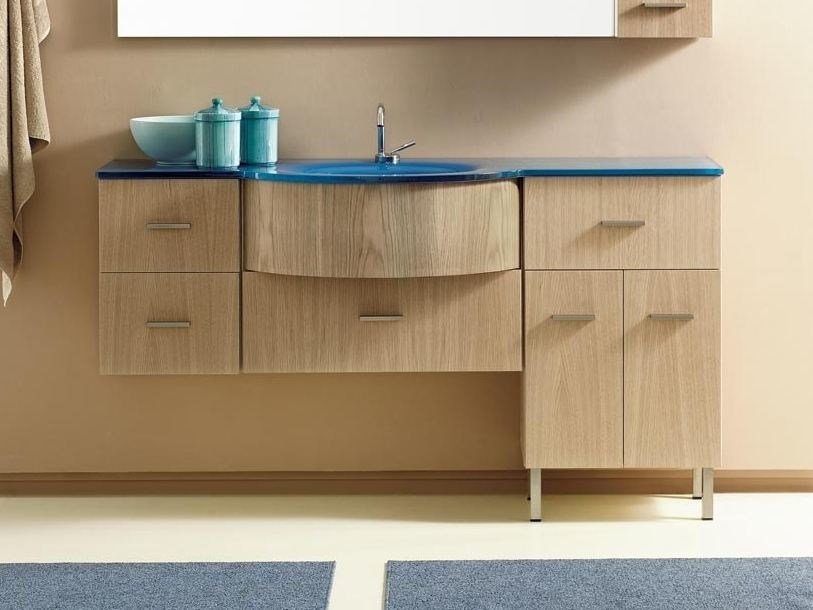 Single vanity unit with drawers COMPOS 20 - LASA IDEA