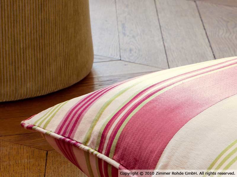 Striped linen upholstery fabric EXPEDITION - Zimmer + Rohde