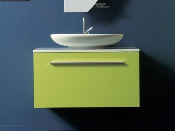 Wall-mounted vanity unit with cabinets TWING 04 - LASA IDEA