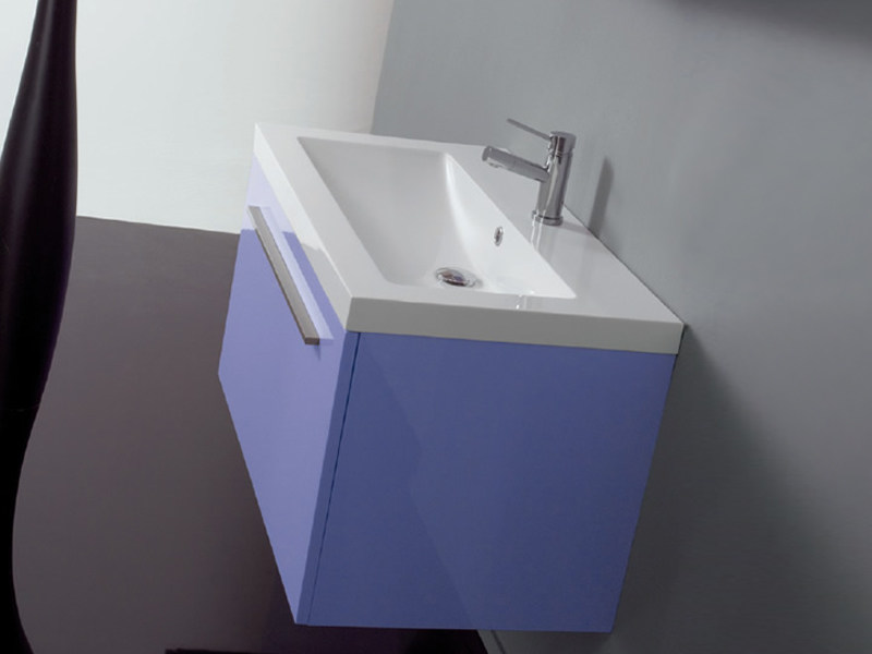 Lacquered wall-mounted vanity unit TWING 03 - LASA IDEA