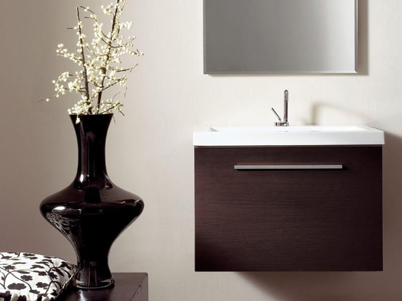 Single wall-mounted wenge vanity unit TWING 02 - LASA IDEA