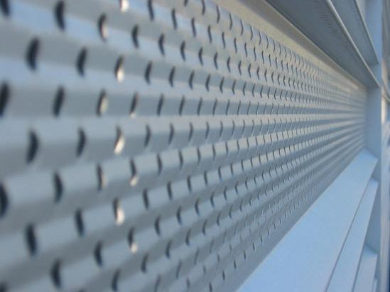 Perforated and embossed sheet for facade PERFORATED FACADE - KALZIP® - Gruppo Tata Steel Europe